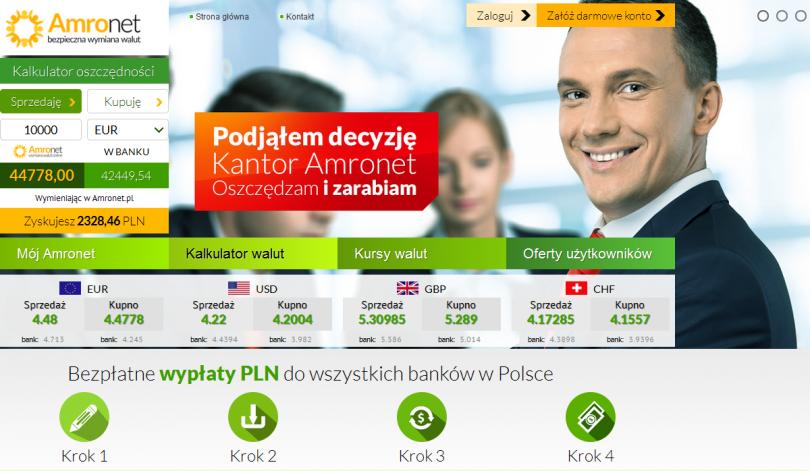 Informacje i opinie o kantorze wymianie walut - Amronet.pl