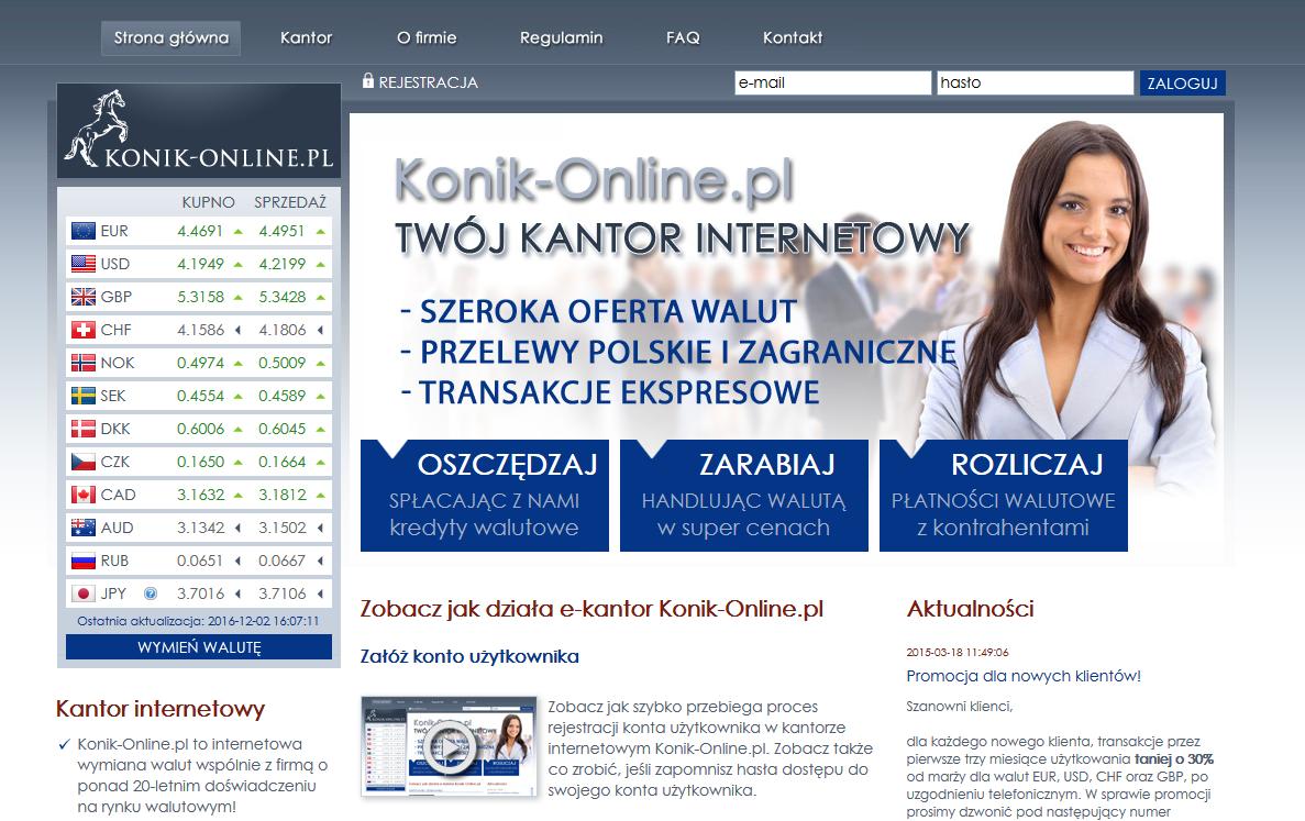 Informacje i opinie o kantorze wymianie walut - KantorOnline.pl