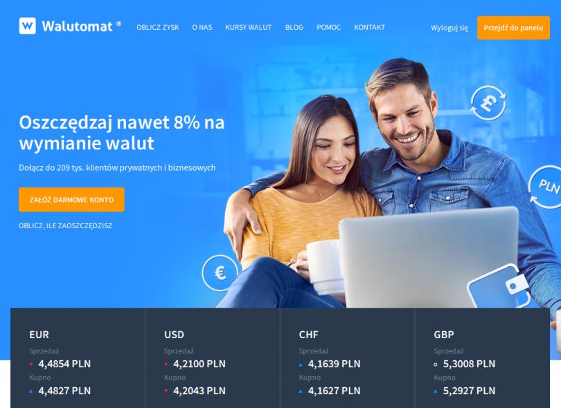 Informacje i opinie o kantorze wymianie walut - Walutomat.pl